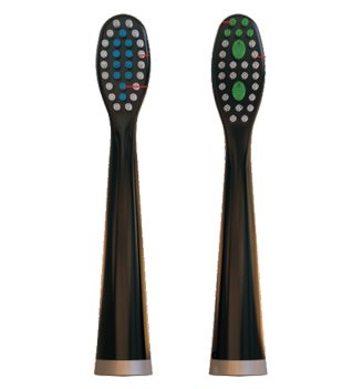 Replacement Heads for ELECTRIC Toothbrush by DR JIM ELLIS for SUPERIOR Dental Care (Black (2 pack))