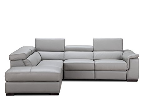 (J and M Furniture 18231-LHFC Perla Premium Leather Sectional Chaise)
