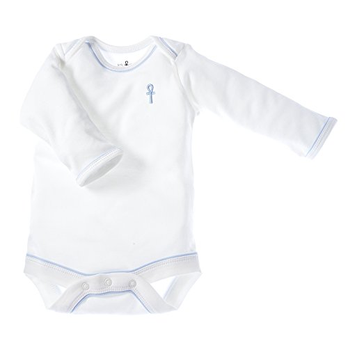 little-pharo-100-extra-long-staple-egyptian-cotton-long-sleeved-bodysuit-ivory-with-blue-piping-size