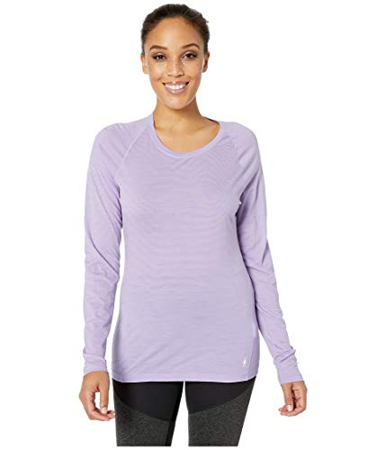 SmartWool Women's Merino 150 Baselayer Pattern Long Sleeve Cascade Purple Small ()