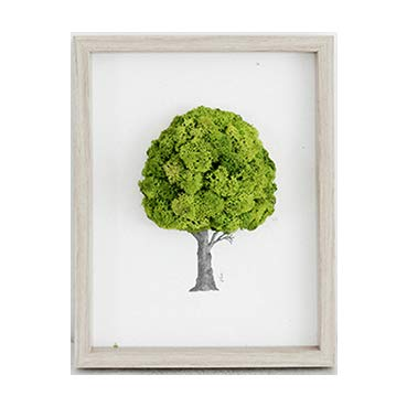 Reind Reindeer Moss Preserved Frame Air Purification Function, Emotional Interior, Eco-Friendly Design 13'' Spring Green Color by ReinD Moss tree