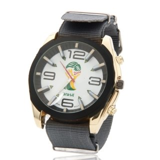 Xenia El mundo taza Souvenirs aleación Unisex reloj aguja/números escala cuarzo pulsera reloj blanco y gris: Amazon.es: Relojes