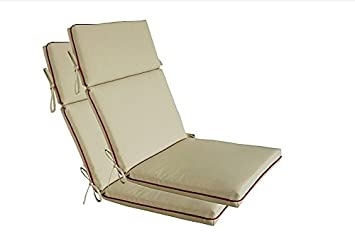 Bossima Indoor/Outdoor Light Khaki High Back Chair Cushion, Spring/Summer  Seasonal Replacement