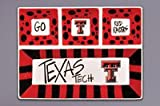 Magnolia Lane Collegiate Ceramic 4 Section Divided Tray (Texas Tech Red Raiders)