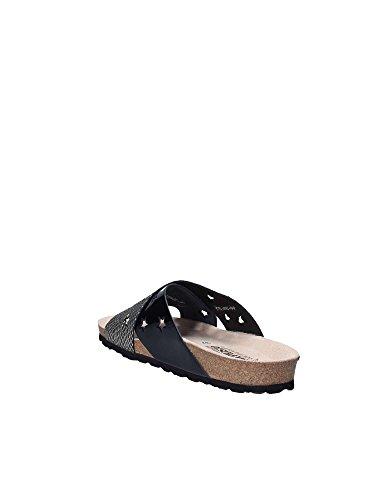 Wide Band 2 Black Sandal Slip On Mephisto TEqSw5nT