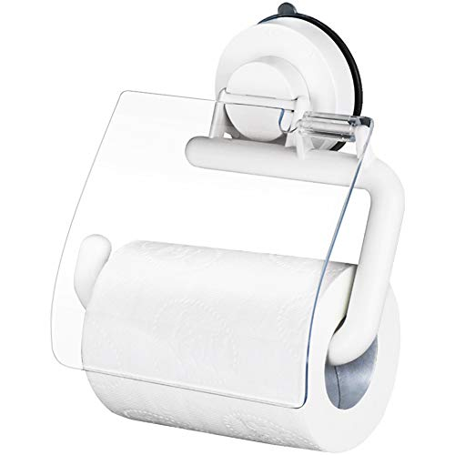 Q&F Toilet Paper Holder,Tissue Roll hanger- Wall Mount,Waterproof,Moisture Proof,Rust Protection,Plastic-B by Q&F (Image #1)