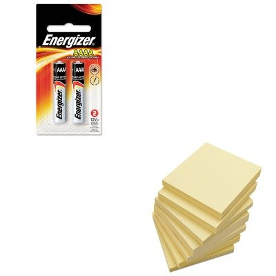KITEVEE96BP2UNV35668 - Value Kit - Energizer MAX Alkaline Batteries (EVEE96BP2) and Universal Standard Self-Stick Notes (UNV35668) by Energizer