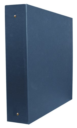Aurora GB Elements Binder, 2 Inch D-Ring, 8 1/2 x 11 Inch Size, Navy, Linen Embossed, Eco-Friendly, Recyclable, Made in USA (AUA20357)