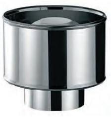 Sombrerete Acero Inoxidable Simple Pared AISI-304 Bofill Anti Viento /Ø 120
