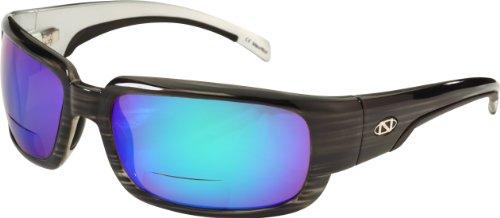 - ONOS Matagorda Polarized Sunglasses (+2 Add Power), Grey, Green/Amber