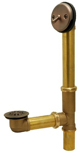 PlumBest P3750AB PVC Lift and Turn Tubular Bath Waste Kit, Antique Brass best