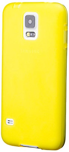 (iCues Case Compatible with Samsung Galaxy S5 NEO & S5 Dustplug TPU Rubber Gel Soft Silicone Matt Yellow [Screen Protector Included] Cover Shell Shookproof)