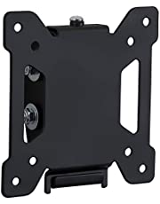 Mount-It! Tilting TV Wall Mount Bracket For Small TV and Computer Monitors, Low-Profile Design With Quick Release Function, Fits 24, 27, 30 and 32 Inch Screens Up To VESA 100, 44 Lbs Capacity, Black
