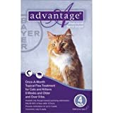Advantage Purple Cat Medium/Large 4pk 9-18pds, My Pet Supplies