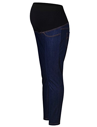 Trouser Maternity Jeans (Bhome Maternity Jeans Pants Blue Long Skinny Jeans Fall Stretch High Waisted Slim Fit Leggings Blue Jeans M)