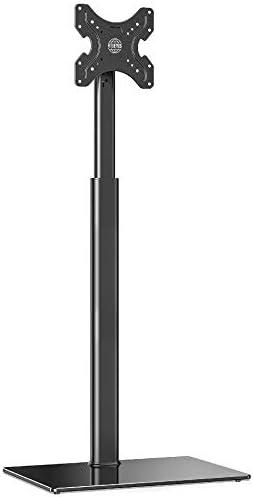 FITUEYES TVstandaard tvstandaard in hoogte verstelbaar kantelbaar voor 19 tot 42 inch platte en gebogen televisie tot 35 kg max VESA 200 x 200 cm