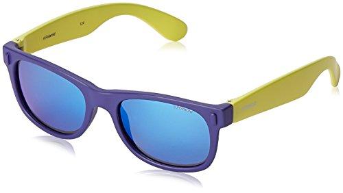 Polaroid Sunglasses Unisex-Child P0115s P0115S Polarized Wayfarer Sunglasses, BLUE LIME, 46 - For Polaroid Kids