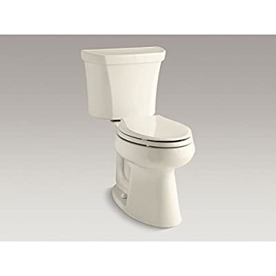 Kohler Highline K-6393-0 Comfort Height Two-Piece Elongated Dual Toilet with Class Five Flush Technology and Left-Hand Trip Lever, White