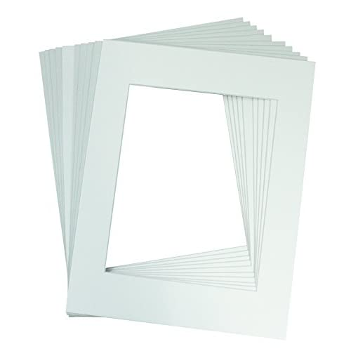 Mat Board Center, Pack of 10, 11x14 WHITE COLORS Picture Mats for 8x10 Photos