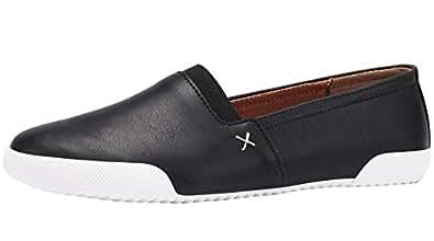 Sofree Women's Slip on Fashion Sneakers Flat Walking Shoes Black Size: 10 US