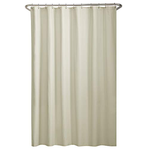 """Water Repellent Fabric Shower Curtain Liner, 70"""" x 72"""", Bone"""