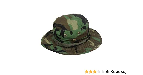 3e5ada48292 Amazon.com   Fishing Hunting Army Marine Bucket Jungle Cotton Military  Boonie Hat Cap Woodland Camo   Sports   Outdoors