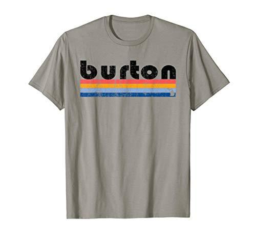 Burton Mens Clothing (Vintage 80s Style Burton MI T-Shirt)