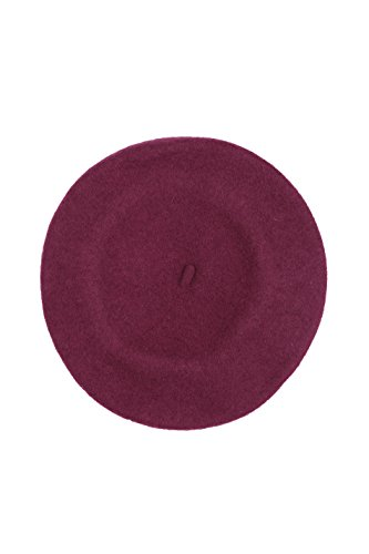 Sakkas 400WW Classic Wool Warm Thick Fashion French Beret - Purple/One Size