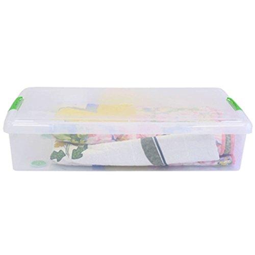 IRIS 40 Quart Underbed Store and Slide Storage Box- Green Handle, (Iris Underbed Storage)