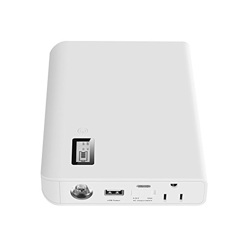 AIVANT 24000mAh Power Bank, Ultra-High Capacity External Battery Packs Portable Charger W/ AC Outlet and 3 USB Ports Fast Charging 5.4A Max Output for Smartphone Tablet and More(White) by AIVANT (Image #1)