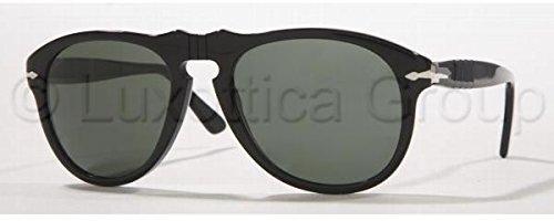 Persol Men's Classic Sunglasses, Black/Green Polar, One - Sunglasses Persol