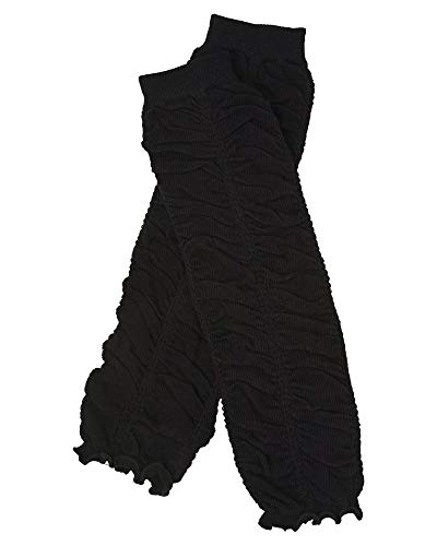 Ruffle baby leg warmers in various colors by juDanzy for girls, toddler, child (Black) -