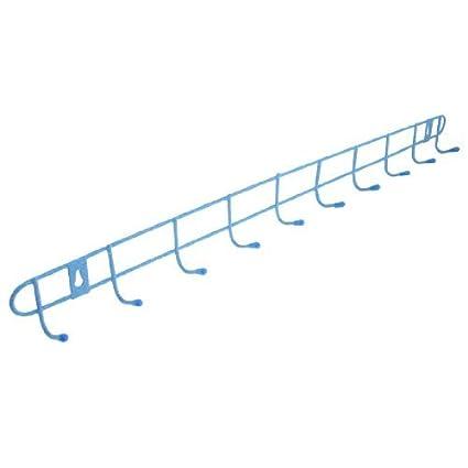 Blue Metal 10 enganchan el estante Toallas Ropa suspensión de la pared