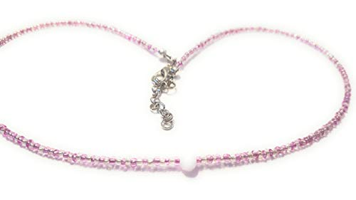 pastel pink faceted crystal beaded choker