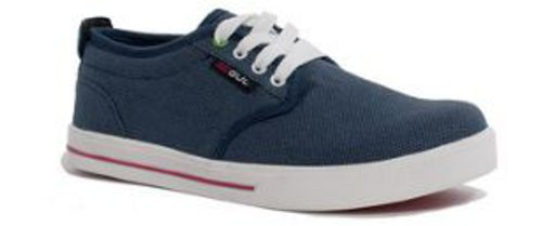 Gul Portland Canvas Deck Trainer in Denim/Red D1001