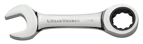 GearWrench 9513 13mm Stubby Combination Ratcheting Wrench - 13 Mm Stubby Combination