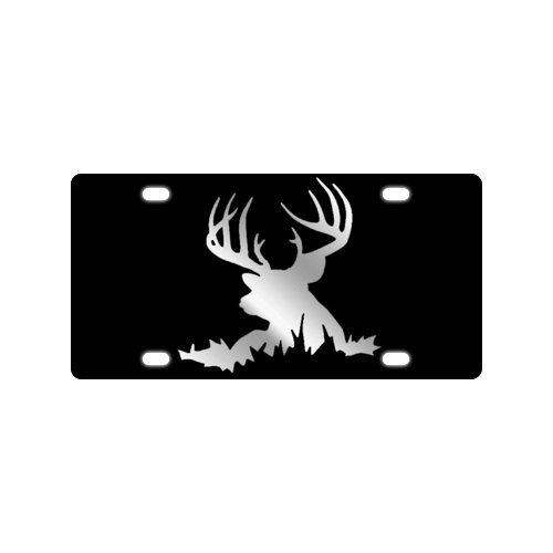 Deer Silhouette License Plate with made from Aluminum-12