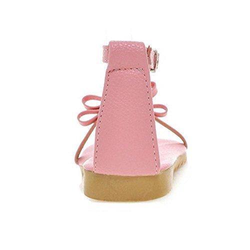 T Scarpe Pink Sandali A Cinturino TAOFFEN Donna gt1SAA