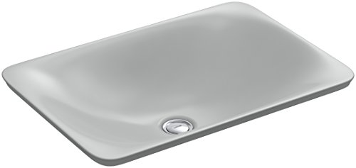 KOHLER K-7799-95 Carillon Wading Pool Rectangular Above-Counter Bathroom Sink, Ice Grey 95 Ice Grey Vessels