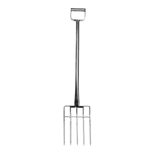 UltraSource 500232 Stainless Steel Reinforced Fork, 12'', 5 Tine, 44'' by UltraSource