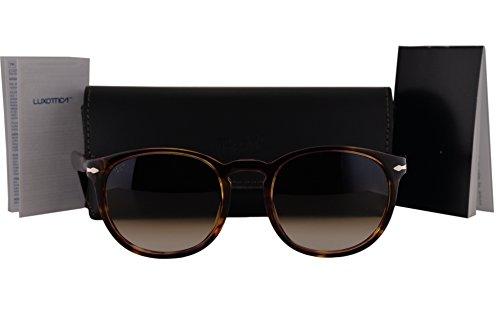 Persol PO3157S Sunglasses Violet Brown Havana w/Brown Gradient Lens 105551 PO - Persol Polarized 3019s