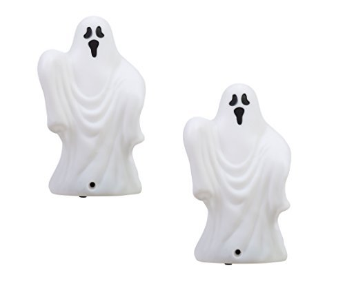 Light & Sound Motion Activated Spooky Ghost - Set of 2]()
