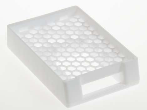 Supa Mega Mother Ship Cassette   White   100 Id Cassettes   Tissue Processing Embedding For Large Specimens  2D Printable Barcode   Super   Large Format   Prostate   Breast   Brain   Gi   Gut   Macro