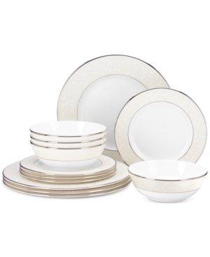 Lenox Opal Innocence 12-Piece Dinnerware Set, 14.70 LB, White