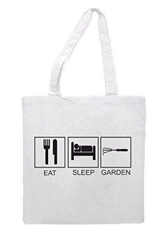 Tote Funny Bag Garden Eat White Sleep Activity Hobby Tiles Shopper FwTRO