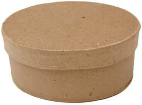 Small Oval Paper Mache Boxes with Lids Package of 12 Boxes