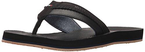 Tommy Hilfiger Men's Dilly Flat Sandal Black s4eVu0iL3l