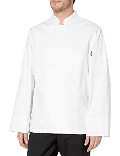 Dickies Chef Classic Cloth Covered Button Coat, White, Medium from Dickies