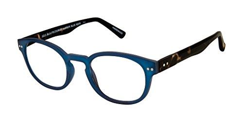 Scojo New York Gels BLULITE Courier Blue Light Blocking Reading Glasses (Harbor Blue, 0.00)