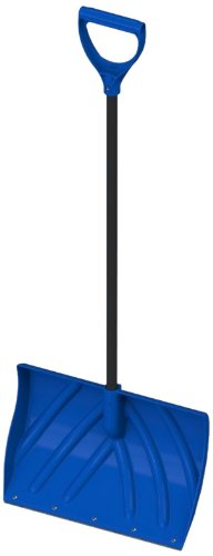 Orbit 80062 20-In. Hybrid Snow Shovel with Metal Edge and D-Grip Handle, Blue